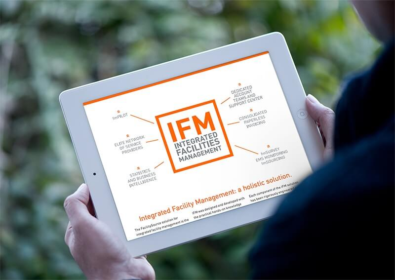 IFM Overview Brochure on a tablet computer