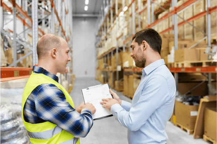 Trade Specialist solves problems with a facility manager